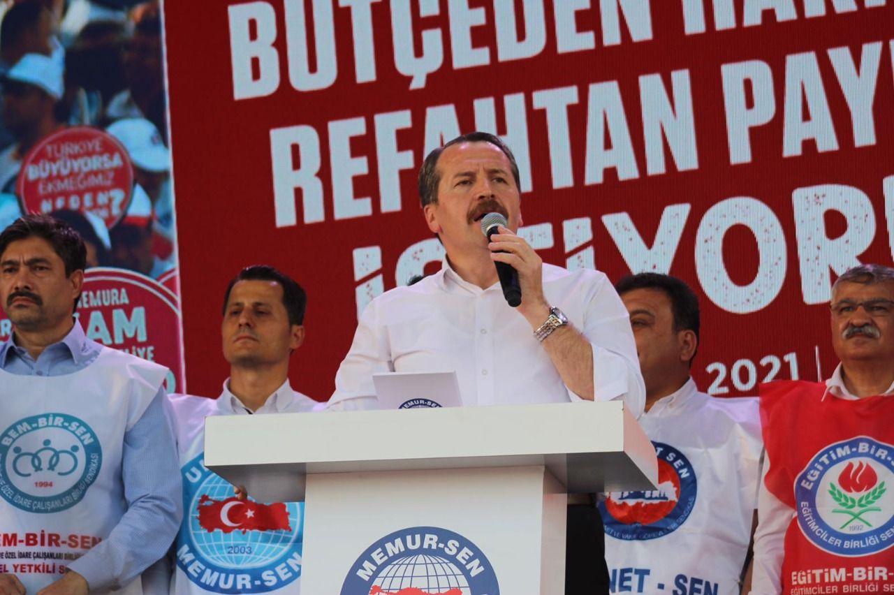Civil servants met in Ankara against raise offer