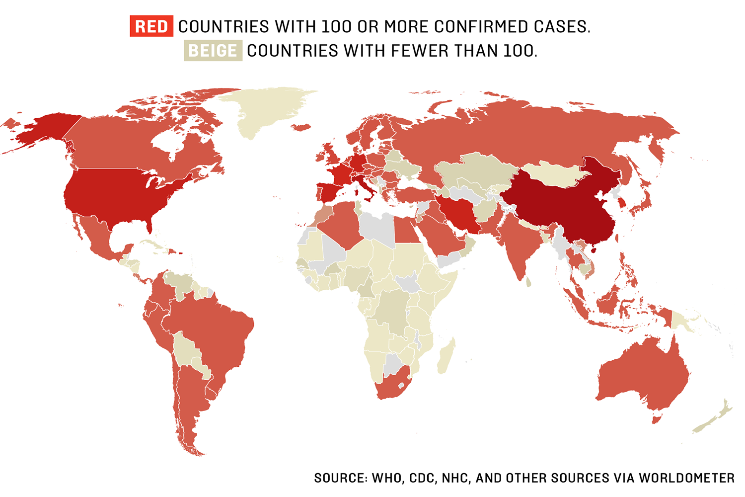 Coronavirus: Which countries have confirmed cases?