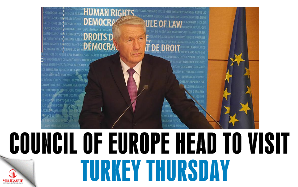 Council of Europe head to visit Turkey Thursday