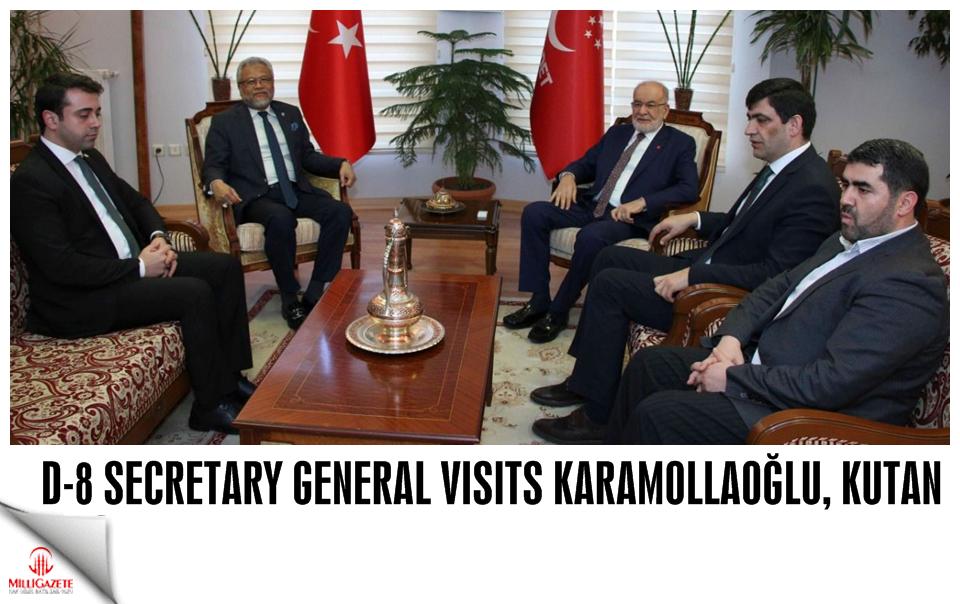 D-8 Secretary General visits Karamollaoğlu, Kutan