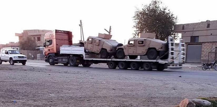 Daytime patrol, midnight military shipment