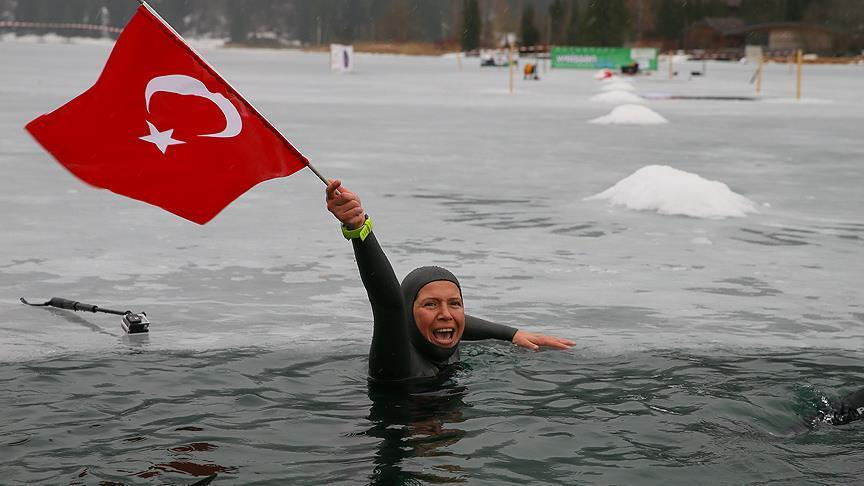 Derya Can breaks world record in free diving