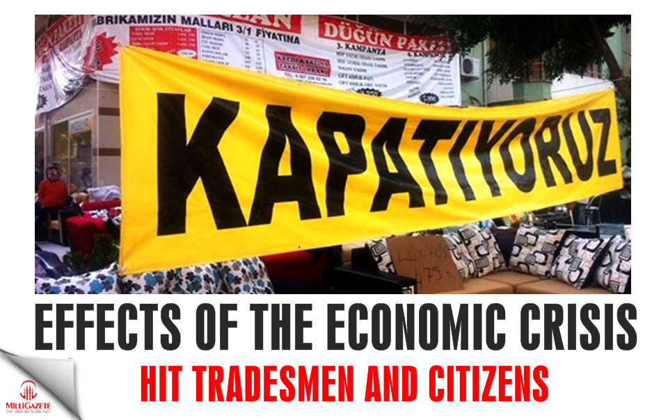 Effects of the economic crisis hit tradesmen and citizens