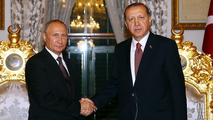 Erdogan calls Putin over Syria, plane crash