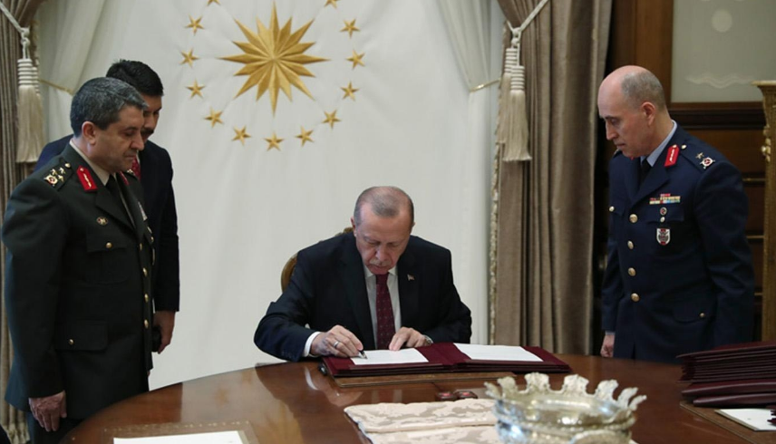 Erdoğan signs Supreme Military Council's decisions