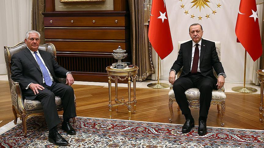 Erdogan tells Tillerson Turkey's regional priorities