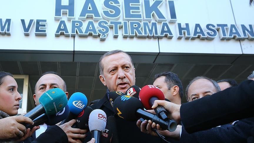 Erdogan vows to continue fight against terrorism