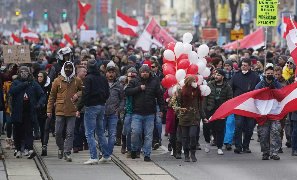 European capitals hit by anti-COVID curbs protests