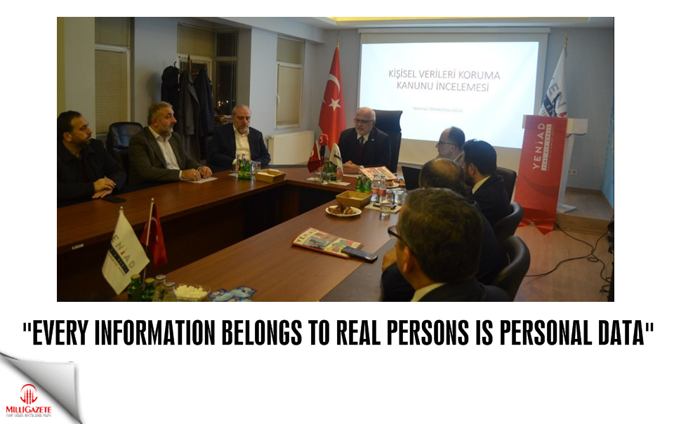 """Every information belongs to real persons is personal data"""