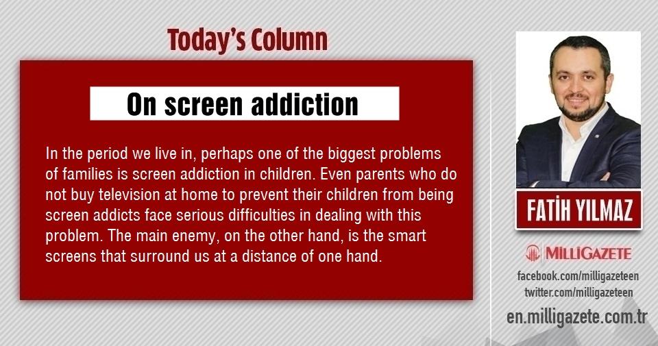 """Fatih Yılmaz: """"On screen addiction"""""""