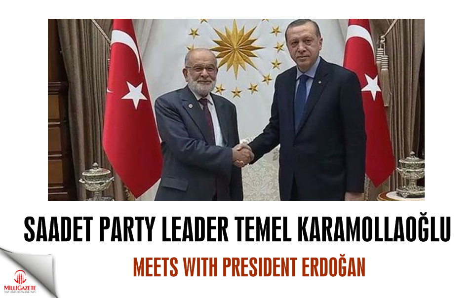 Felicity Party leader Karamollaoğlu meets with President Erdoğan