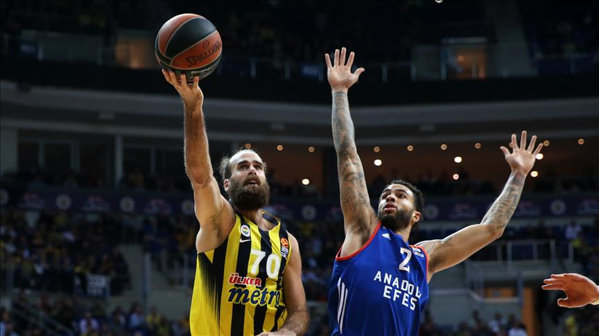 Fenerbahce defeats Anadolu Efes, 88-80, in the Euroleague's 8th round