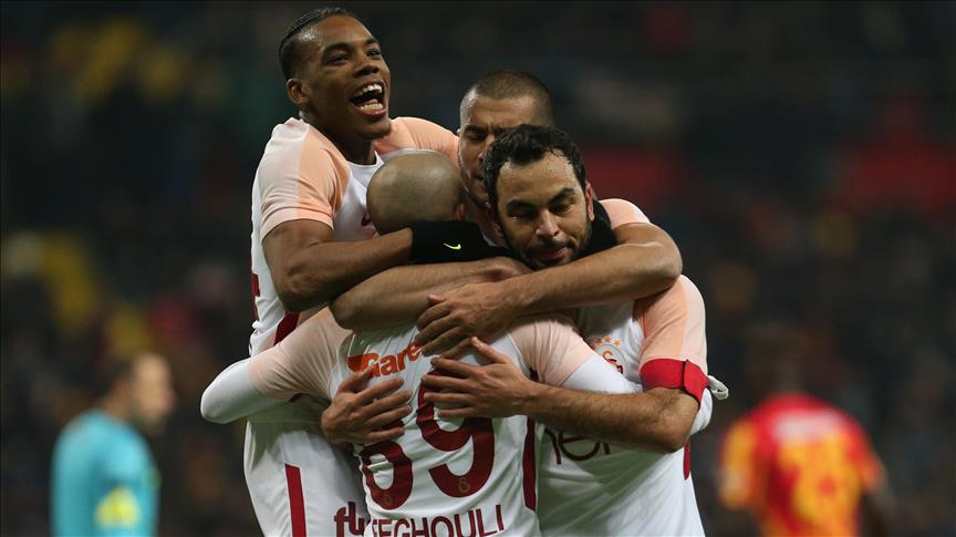Football: Galatasaray defeat Kayserispor 3-1