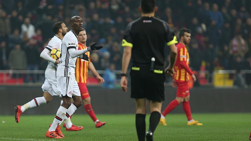 Football: Kayserispor hold Besiktas to 1-1 draw