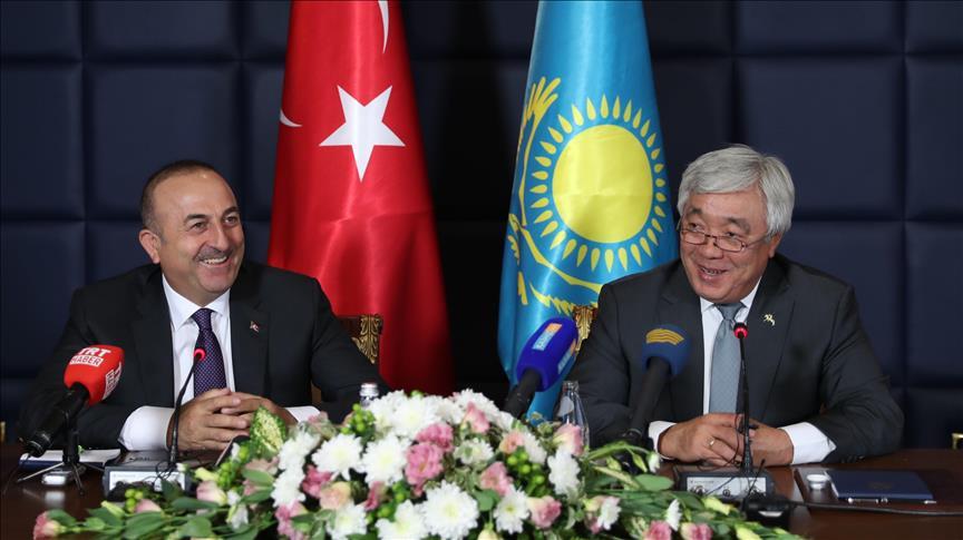 Foreign Ministers Cavusoglu, Idrissov meet in Almaty, Kazakhstan