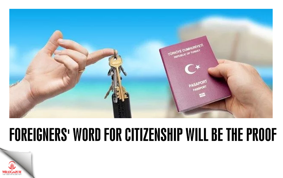Foreigners word for citizenship will be the proof
