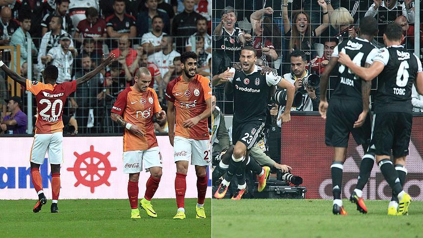 Galatasaray, Besiktas draw in Istanbul derby