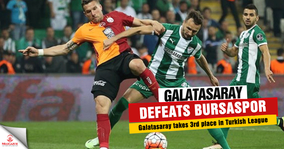 Galatasaray defeats Bursaspor in Arena stadium