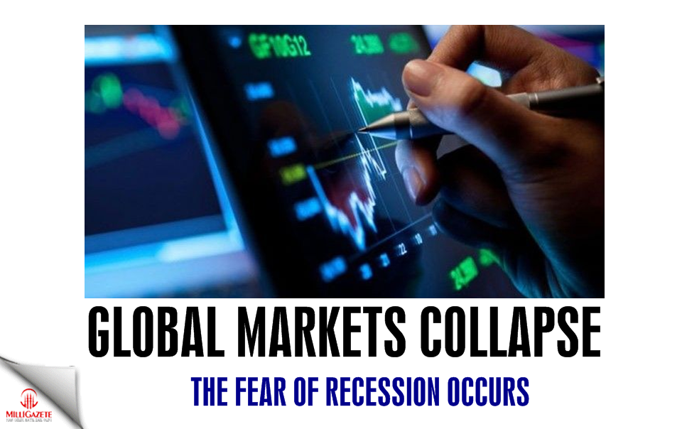 Global markets collapse, the fear of recession occurs
