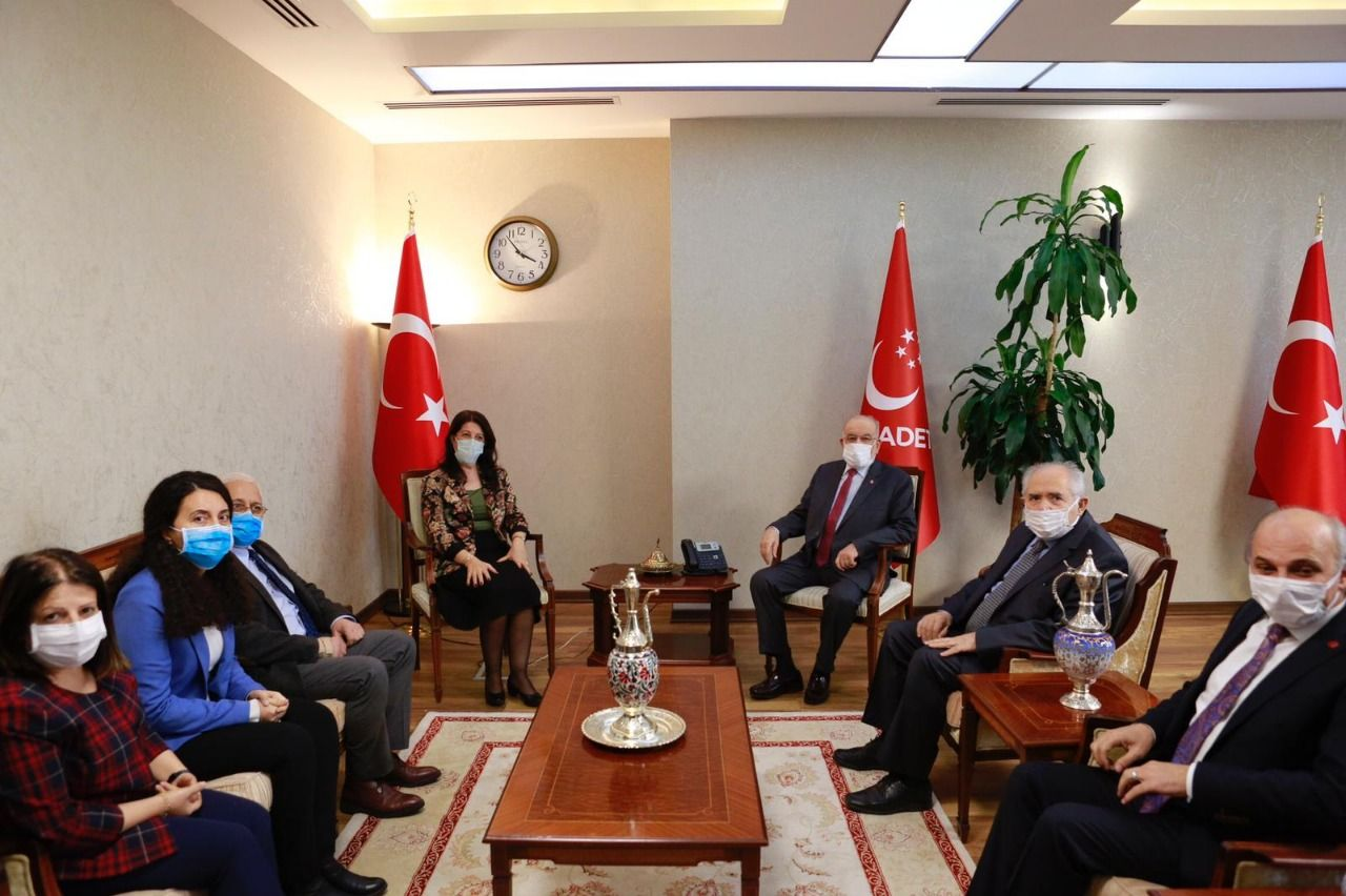 HDP visits Saadet Party! Suggestions regarding the problems presented