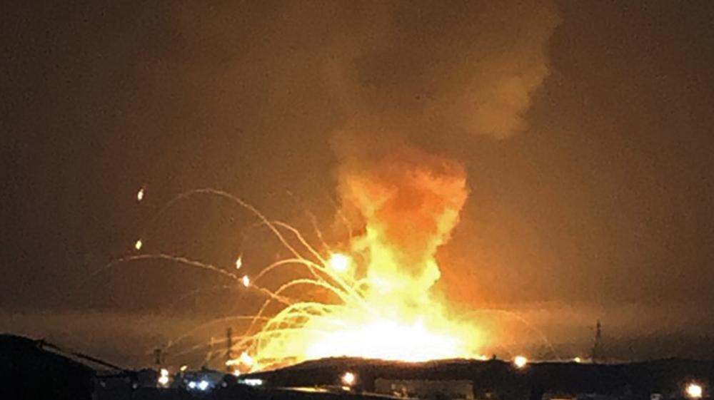 Huge explosions rock Jordan's Zarqa, no casualties reported
