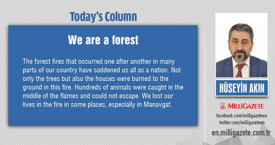 "Hüseyin Akın: ""We are a forest"""