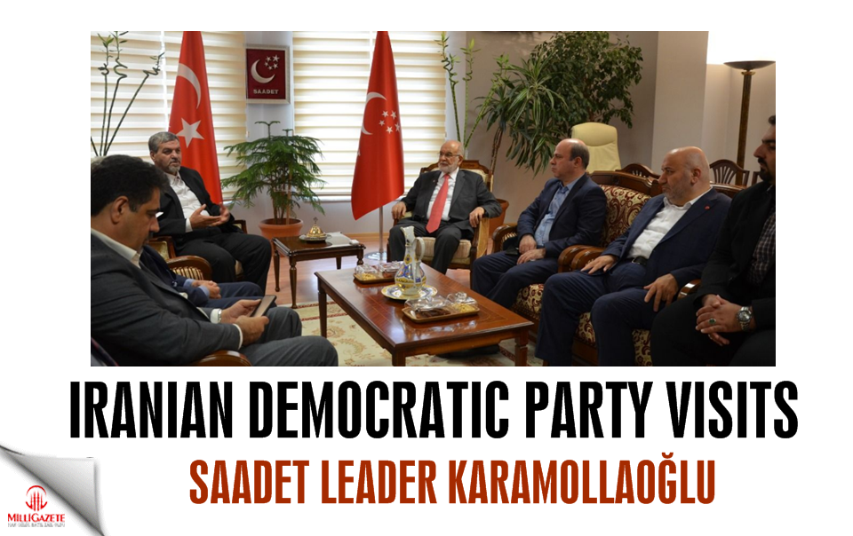 Iranian Democratic Party visits Temel Karamollaoğlu
