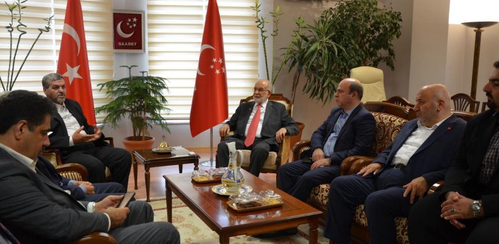 Iranian Democratic Party visits Temel Karamollaoğlu
