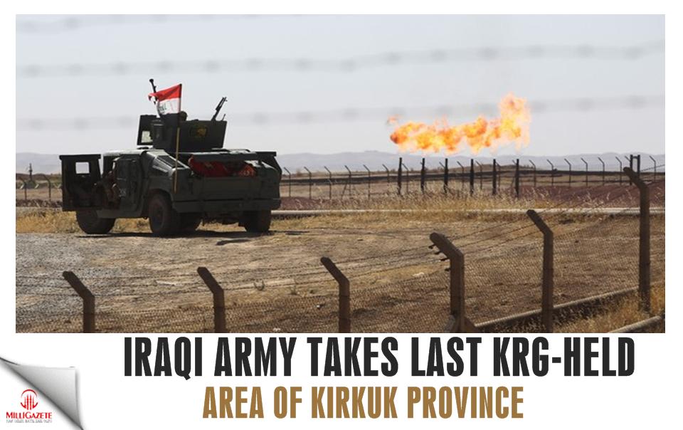 Iraqi army takes last KRG-held area of Kirkuk province
