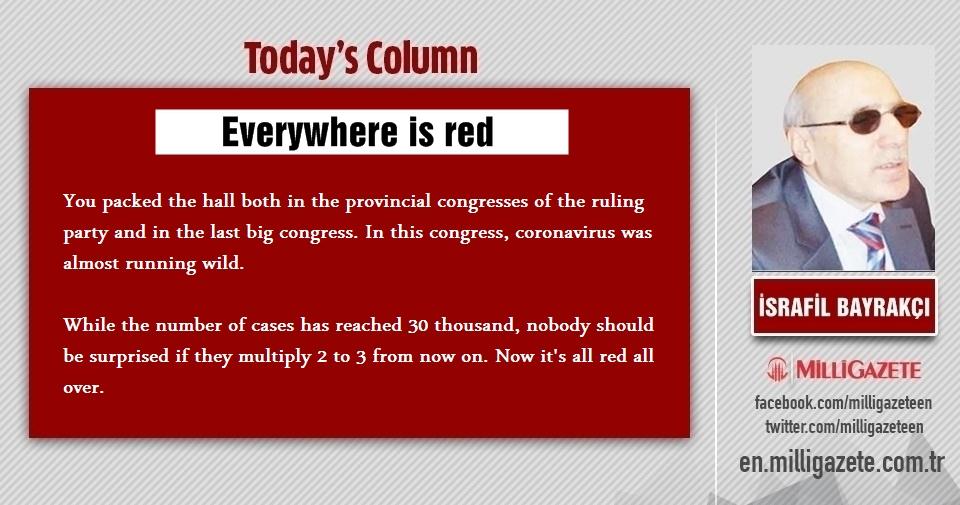 """İsrafil Bayrakçı: """"Everywhere is red"""""""