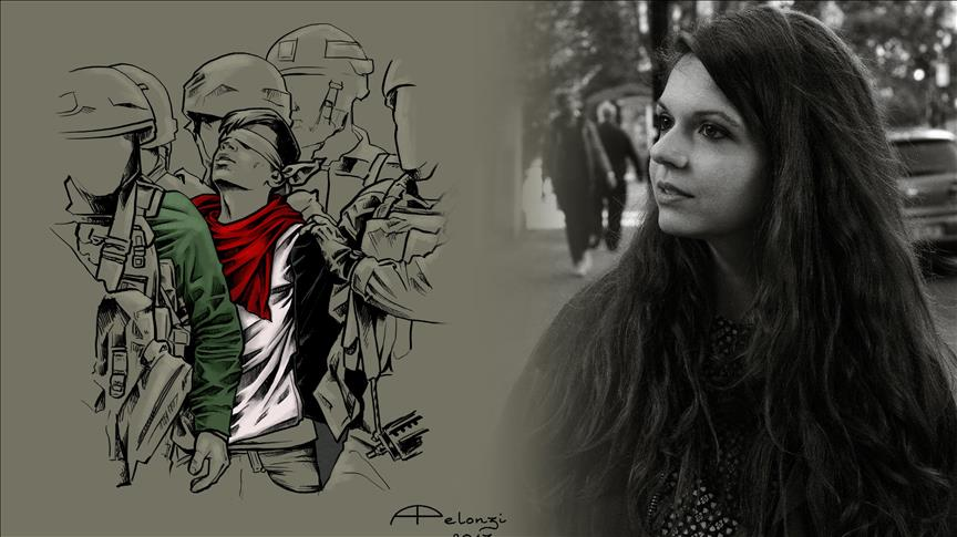 Italian painter of Palestinian boy calls for solidarity