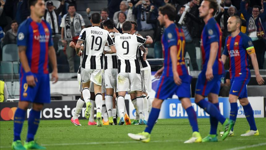 Juventus dominate Barcelona in Champions League