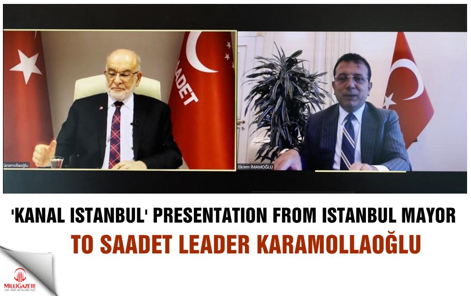 Kanal İstanbul presentation from Istanbul Mayor İmamoğlu to Karamollaoğlu