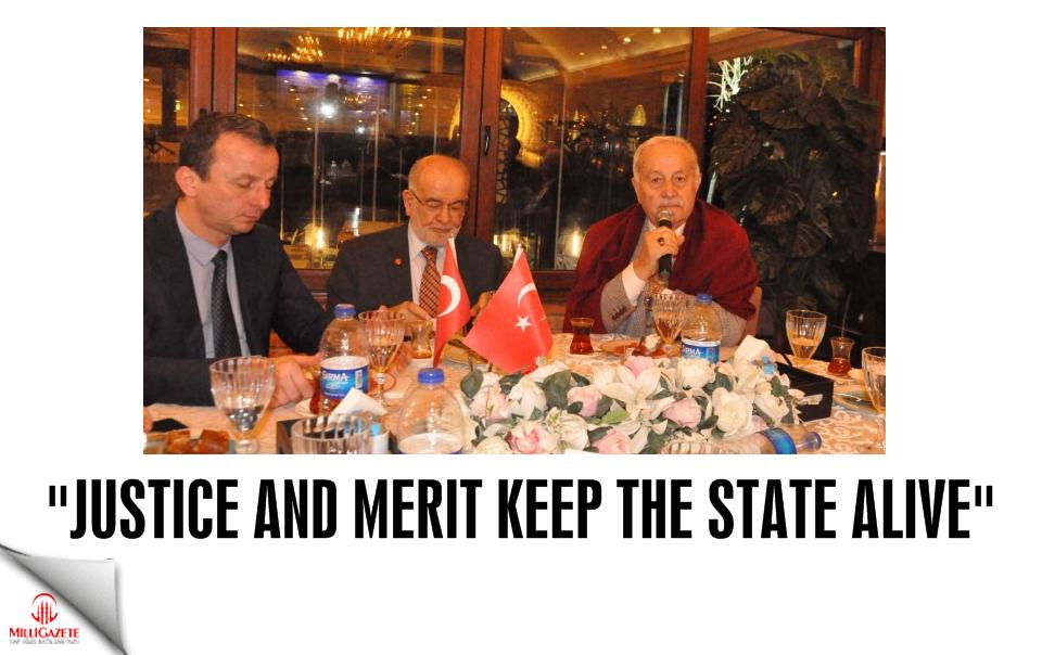 Karamollaoğlu: Justice and merit keep the state alive