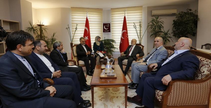 Karamollaoğlu receives Iranian ambassador in Ankara