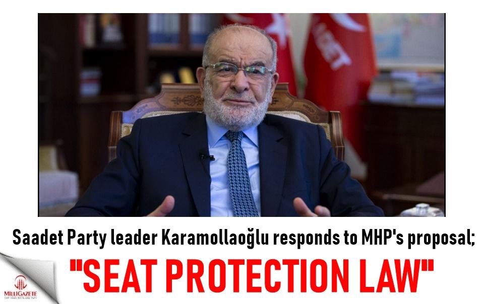 "Karamollaoğlu responds to MHPs proposal: ""Seat protection law"""