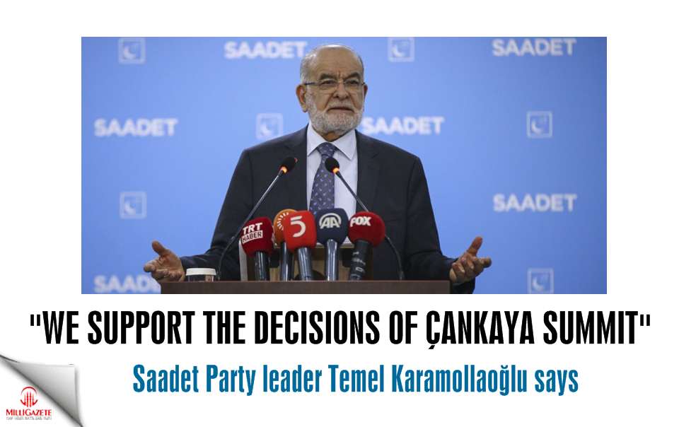 Karamollaoğlu: We support the decisions of Çankaya Summit