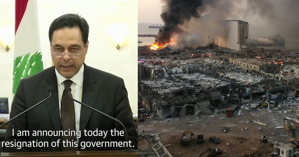 Lebanese government resigns after Beirut explosion