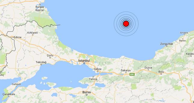 Magnitude 5.0 earthquake shakes Black Sea, felt in Istanbul
