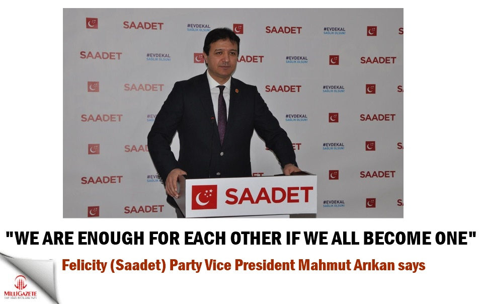 "Mahmut Arıkan: ""We are enough for each other if we all become one"""