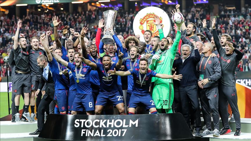 Manchester United claim first Europa League title
