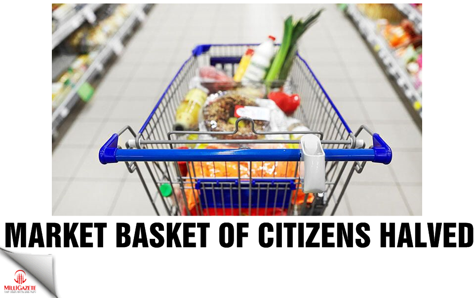 Market basket of citizens halved in Turkey