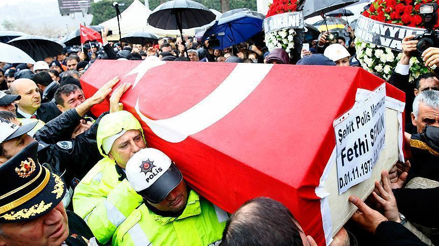 Martyred policeman in Izmir attack hailed as hero