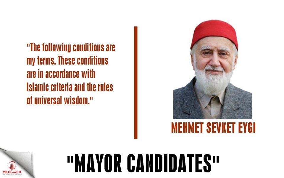 "Mehmet Sevket Eygi: ""Mayor candidates"""