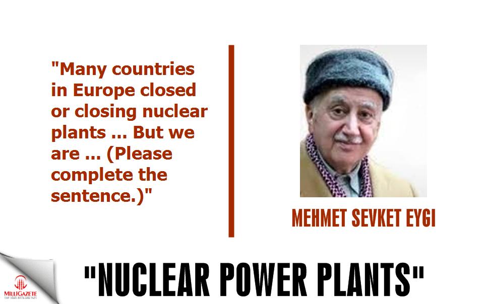 Mehmet Sevket Eygi; Nuclear Power Plants