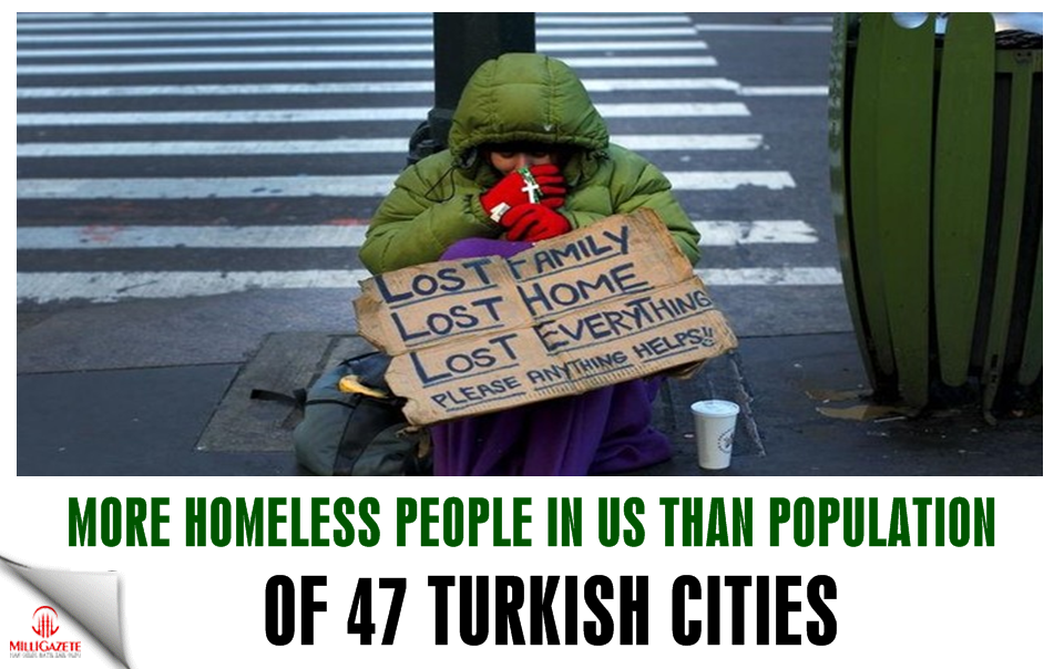 More homeless people in US than population of 47 Turkish cities