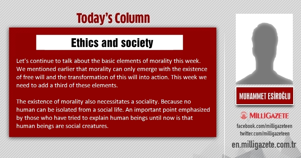 "Muhammet Esiroğlu: ""Ethics and society"""