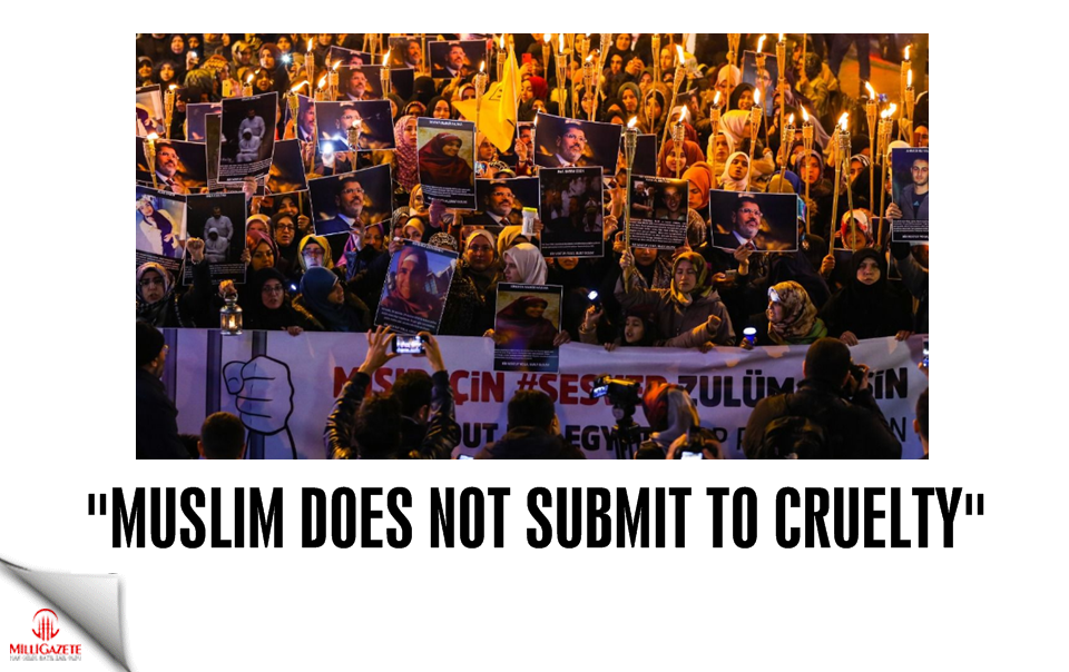 """Muslim does not submit to cruelty"""