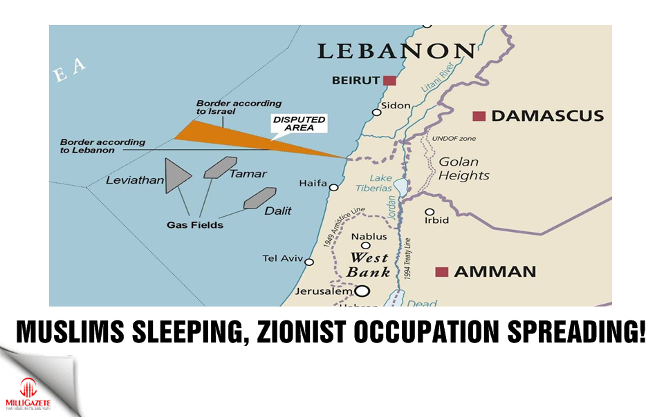 Muslims sleeping, Zionist occupation spreading!