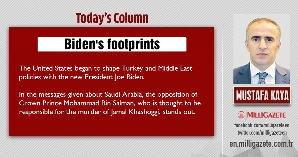 """Mustafa Kaya: """"Bidens footprints"""""""